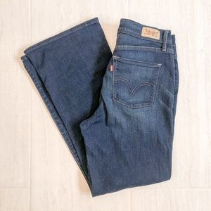 Levi's 512 High Waisted Bootcut Dark Wash Jeans 30